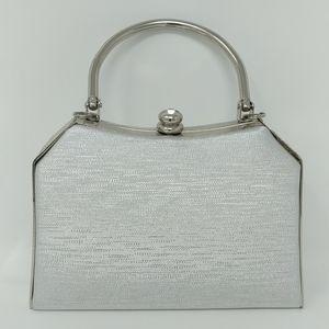 New Silver Crystal Handbag Crossbody Clutch Purse